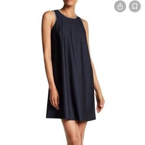 Calvin Klein denim dress with contrast stitching
